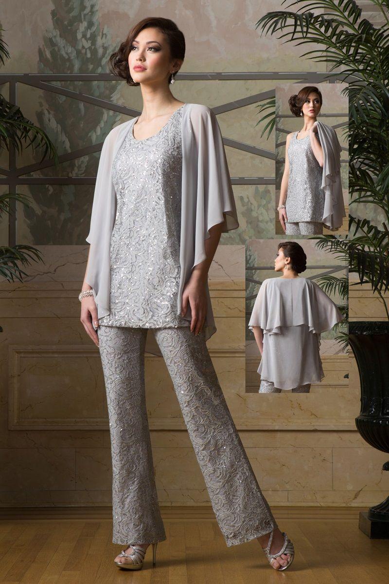 Ursula 13264 Mothers 3pc Wedding Pant Suit French Novelty