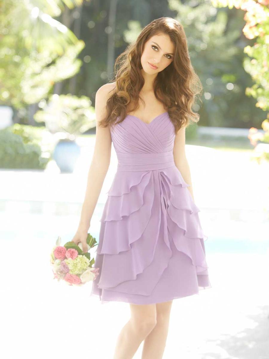 allure short flirty chiffon bridesmaid dress french