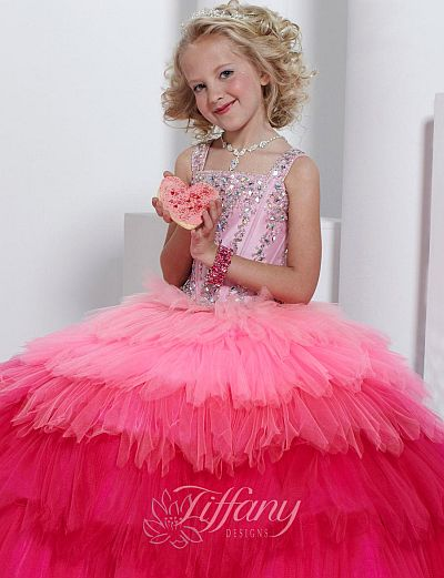 Tiffany Princess Little Girls Pageant Dress 13317: French Novelty