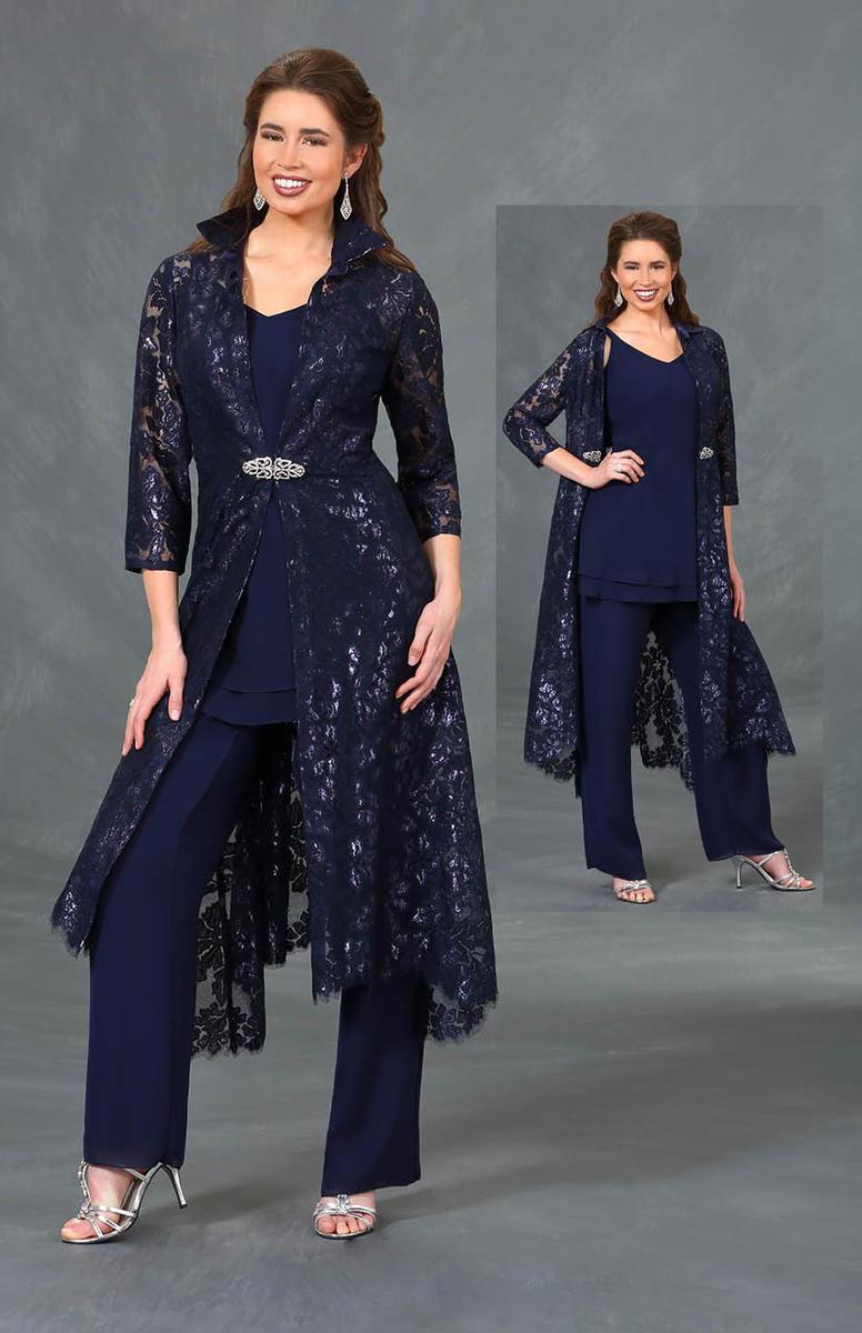 foto de Ursula 13324 MOB Pant Suit with Lace Coat: French Novelty