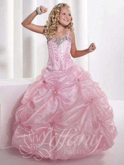 Tiffany Princess 13326 Girls Organza Bubble Pageant Dress: French ...