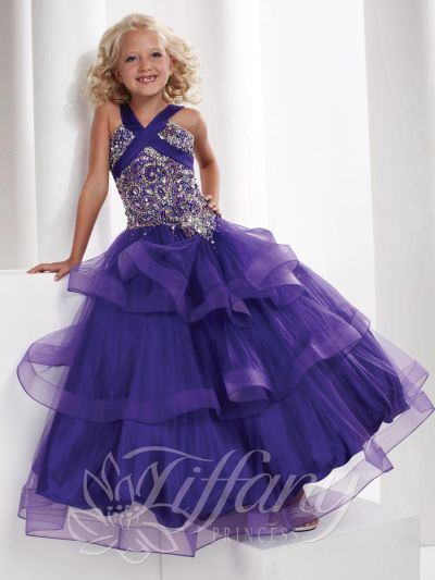 Tiffany Princess 13327 Girls Layered Tulle Pageant Dress