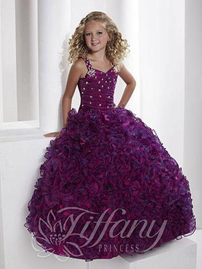 tiffany princess 13345 girls ruffle organza pageant dress