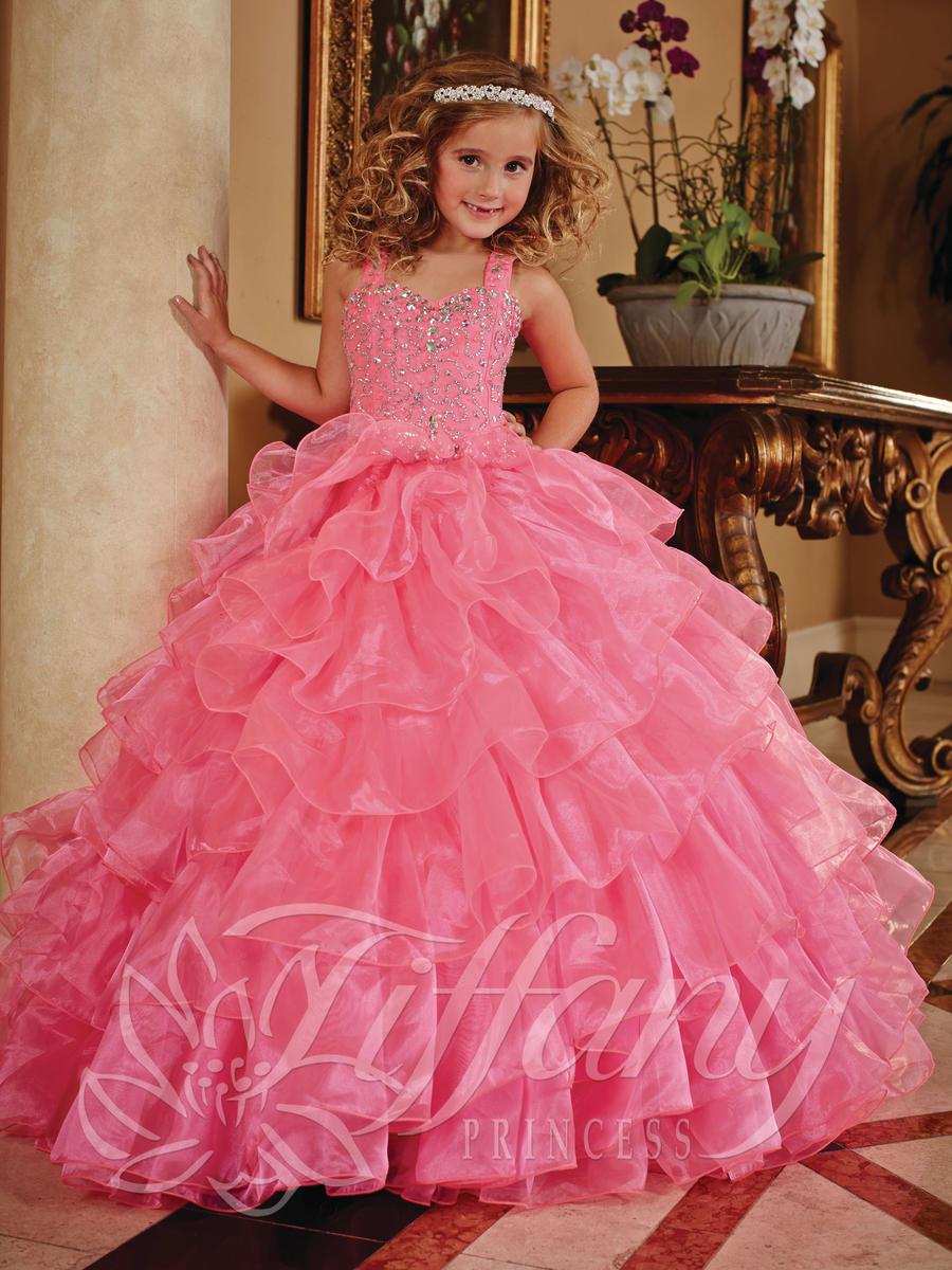 Tiffany Princess 13379 Girls Ruffle Pageant Dress French