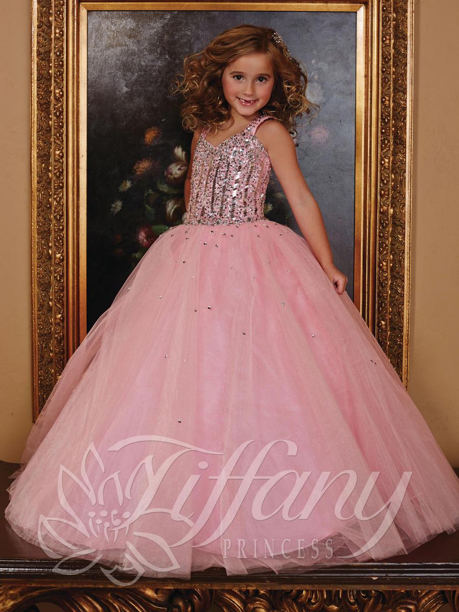 Tiffany Princess 13387 Girls Pageant Dress French Novelty
