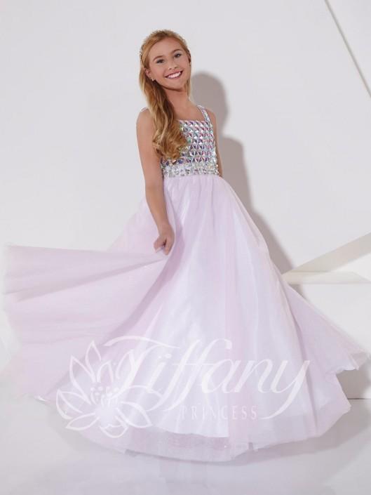 27258be83 Tiffany Princess 13401 Girls Glitzy Pageant Dress  French Novelty