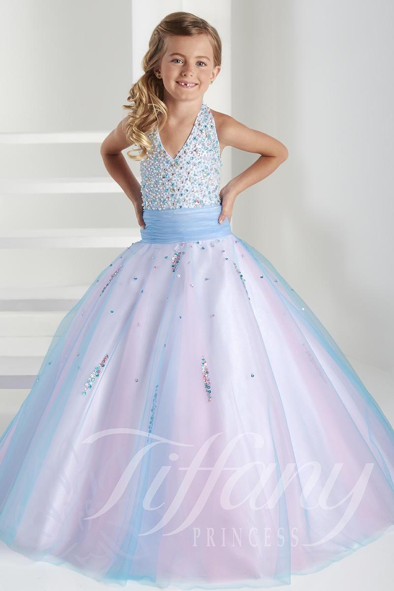 Tiffany Princess 13407 Little Girls Halter Dress French