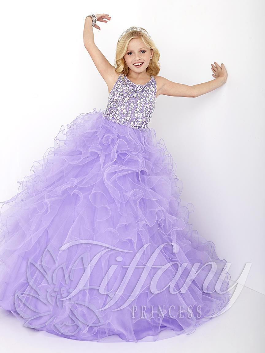 tiffany princess 13430 girls ruffle pageant dress french