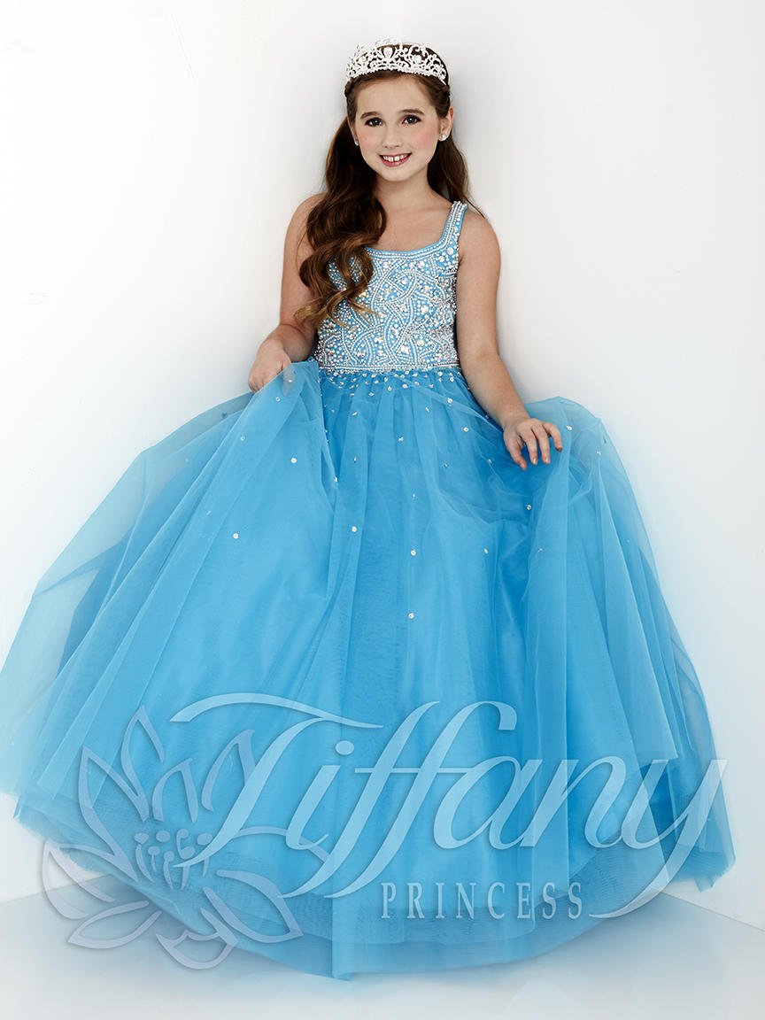 Tiffany Princess 13431 Girls Beaded Pageant Gown: French Novelty