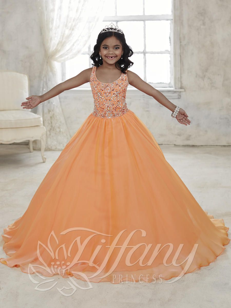 Tiffany Princess 13441 Girls Beaded Pageant Dress French