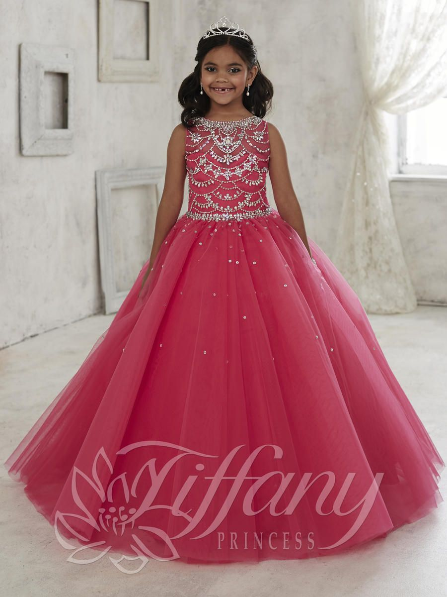 Tiffany Princess 13450 Girls Tulle Pageant Dress French