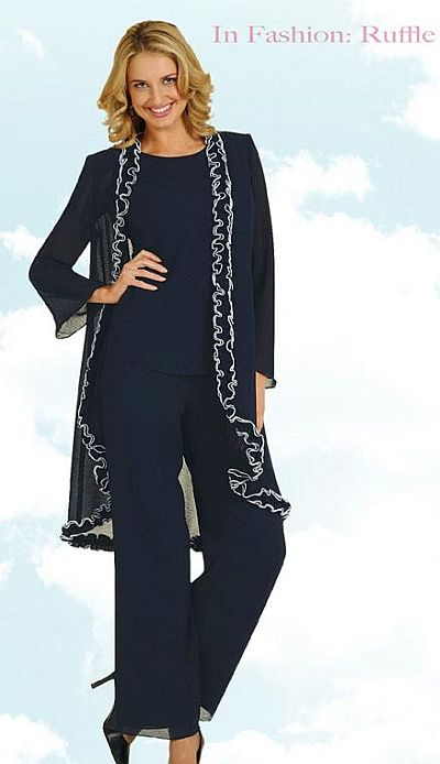 6404e33077 Womens Formal Wear on Misty Lane By Ben Marc Womens 3pc Church Pant Suit  13455 Image