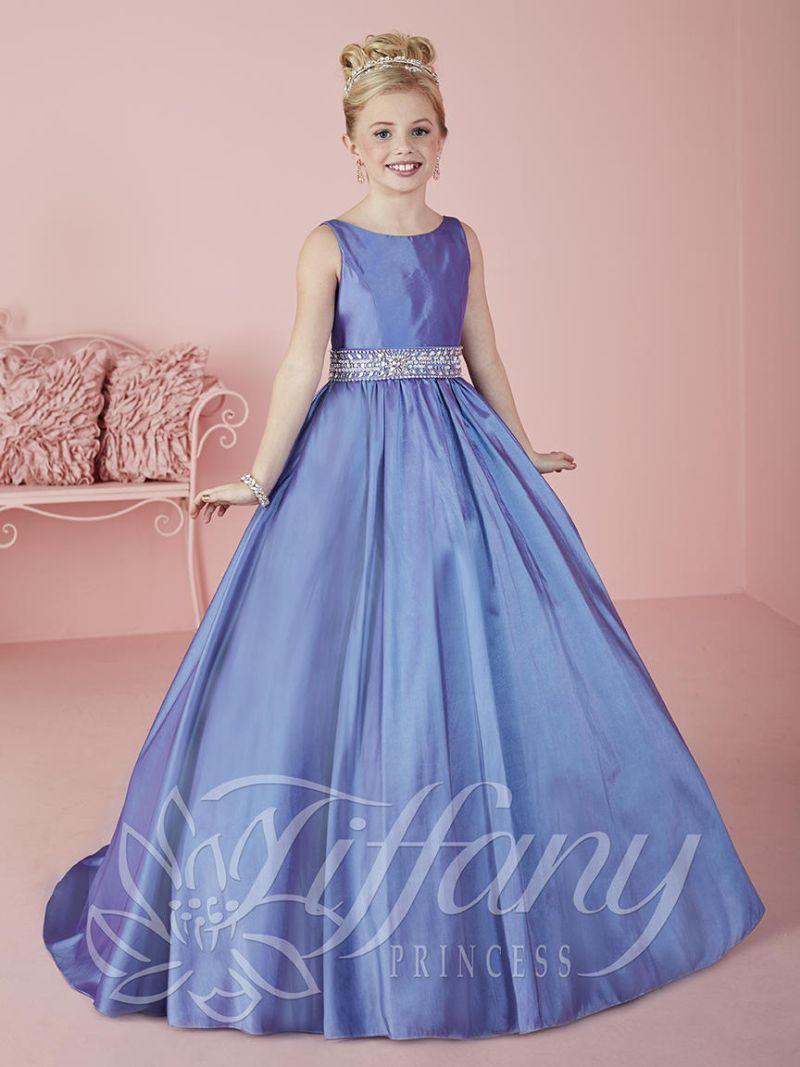 Size 10 Purple Tiffany Princess 13464 Girls Pageant Dress
