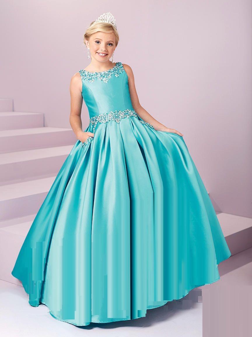 Tiffany Princess 13485 Girls Pageant Dress With Pockets