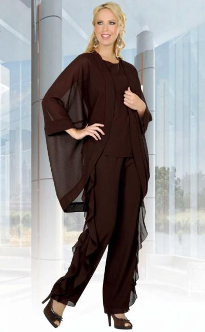 88c6c02e15 Ben Marc Misty Lane Evening Cape Jacket Pant Suit with Ruffles 13491   French Novelty