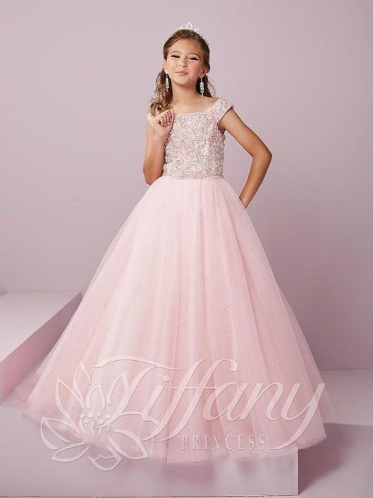 5504ec8e00d6 Tiffany Princess 13491 Off Shoulder Girls Pageant Dress  French Novelty