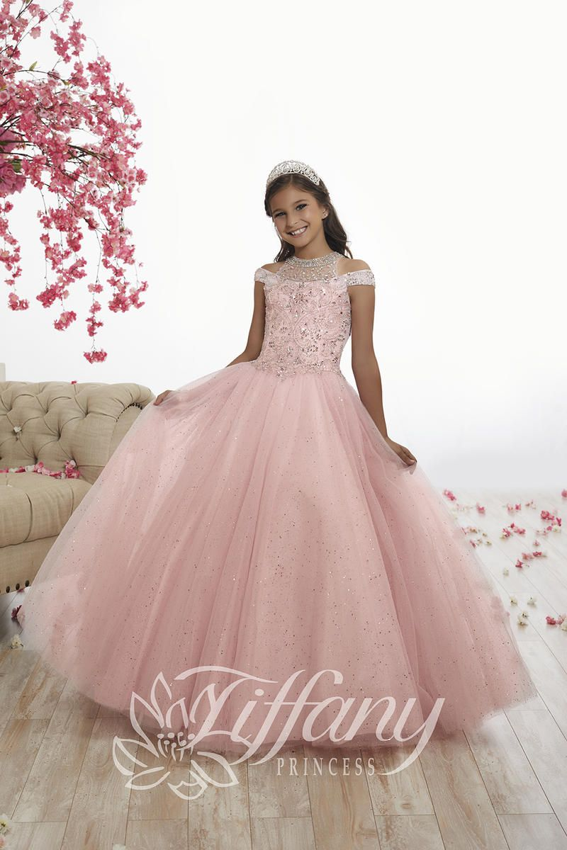 Tiffany Princess 13525 Girls Sparkling Pageant Dress