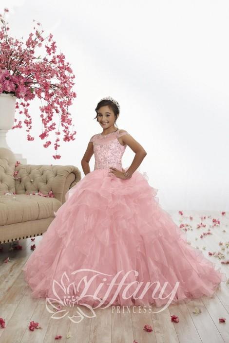 Pink Ruffle Pageant Dress