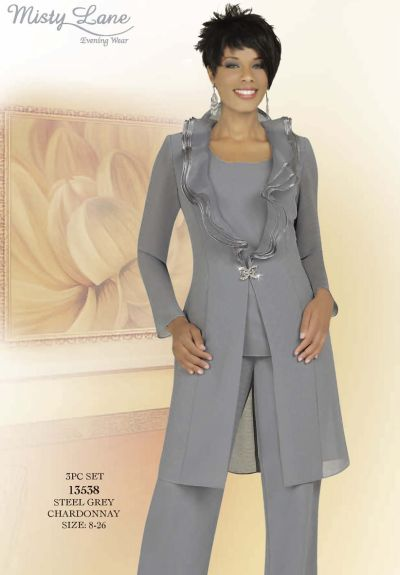 Lane 13538 by ben marc mothers wedding pant suit french novelty