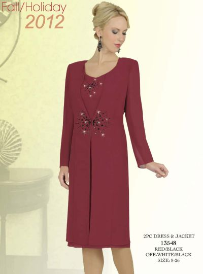 Misty Lane 13548 by Ben Marc Dress with Long Jacket: French Novelty