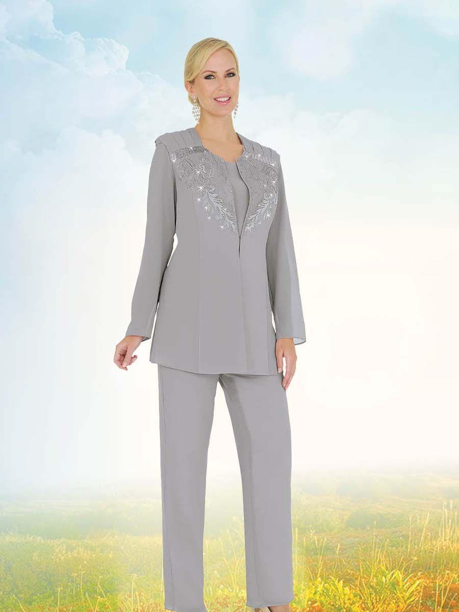 86d09280118ae Misty Lane by Ben Marc 13569 Womens Church Pant Suit  French Novelty
