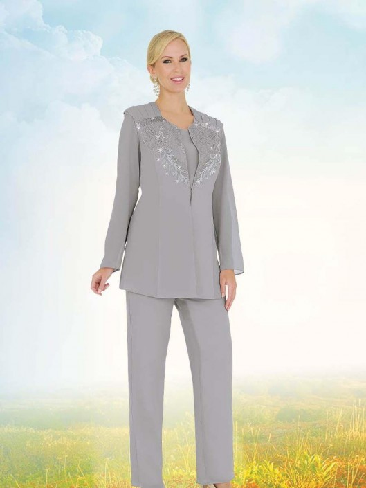 Misty Lane by Ben Marc 13569 Womens Church Pant Suit: French Novelty