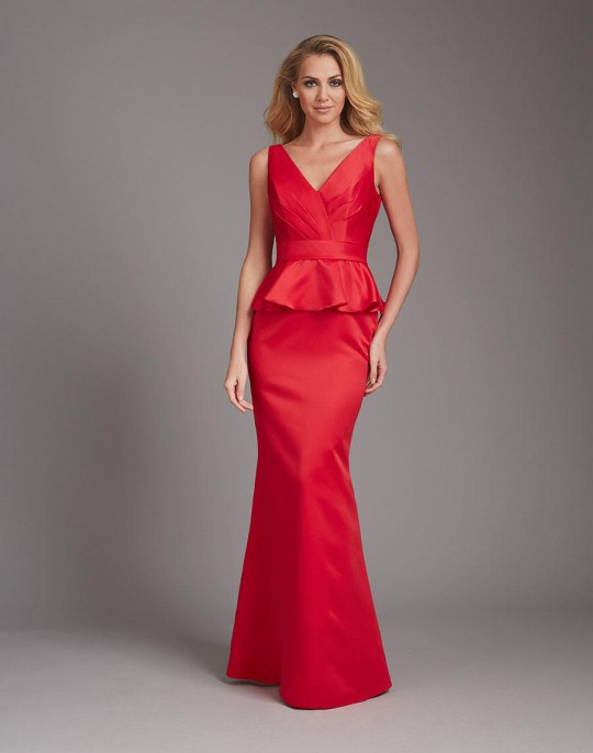 Allure 1360 long satin peplum bridesmaid dress french novelty allure 1360 long satin peplum bridesmaid dress junglespirit Image collections