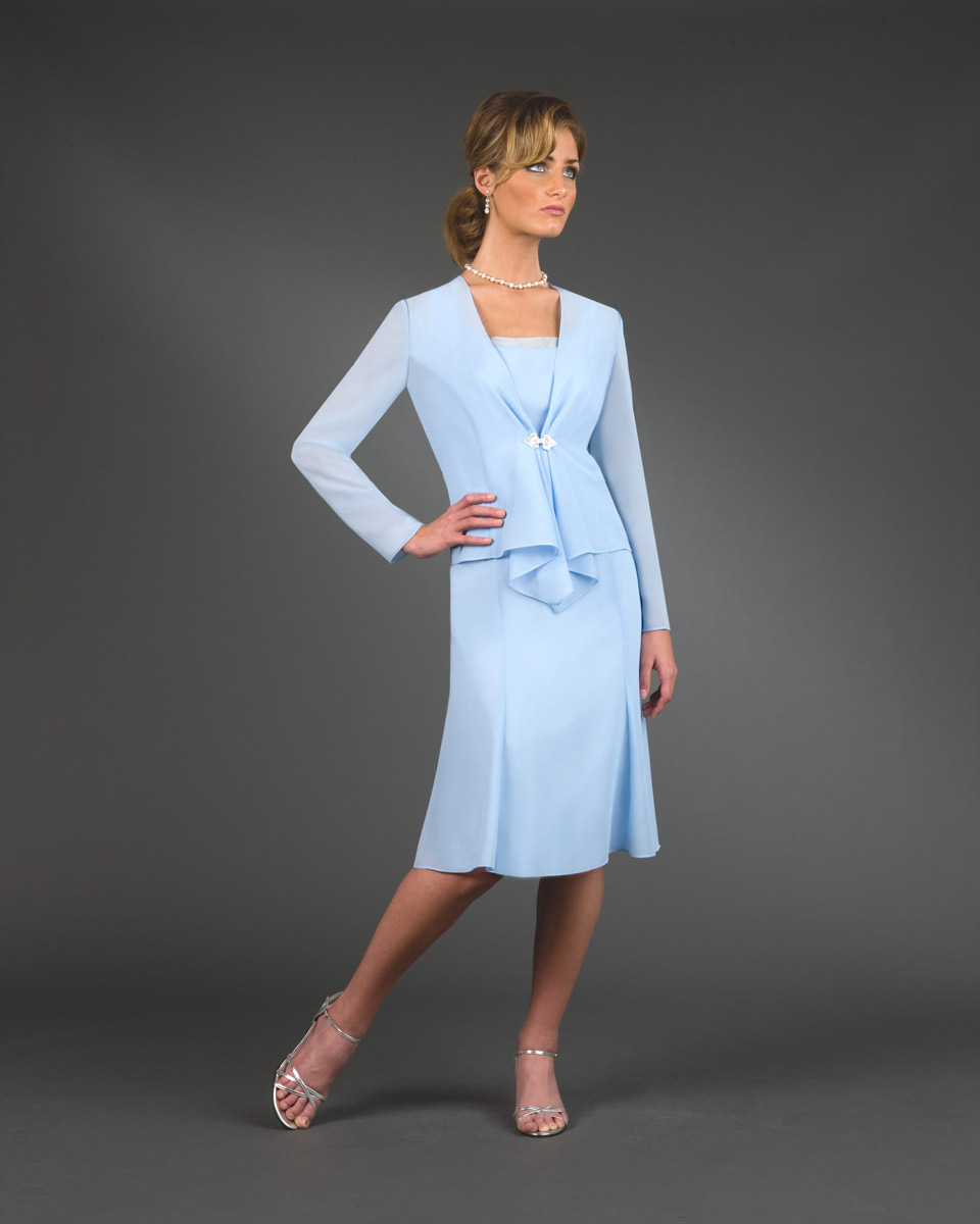 Ursula Knee Length Mother Of The Bride Jacket Dress 13801