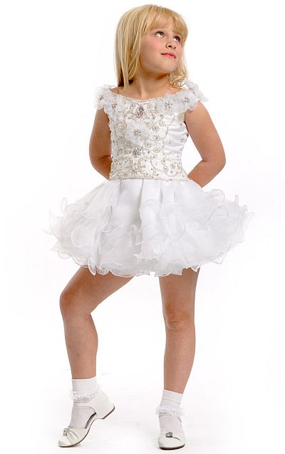 Girls party dress flower girl wedding - Party Time Perfect Angels Toddler Girls Pageant Dress 1396 French