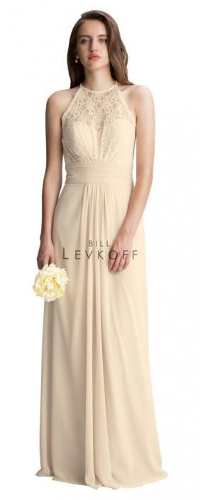 22e49b691c4d Bill Levkoff 1412 Lace Halter Bridesmaid Dress: French Novelty