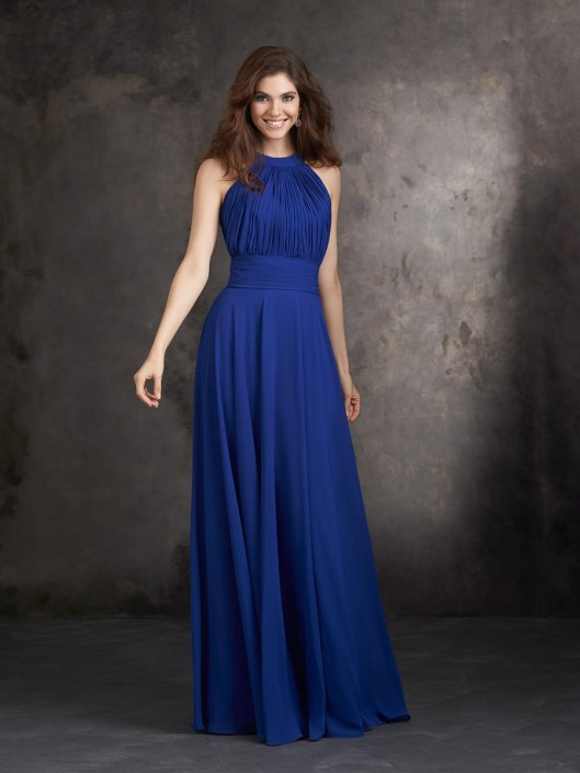 Allure 1427 long halter bridesmaid dress french novelty allure 1427 long halter bridesmaid dress junglespirit Image collections