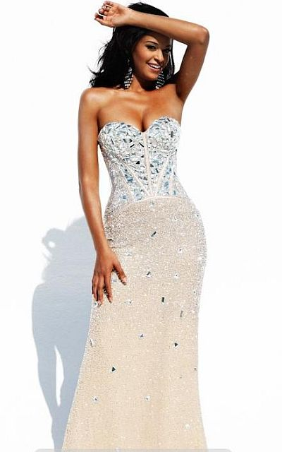 Sherri Hill Jeweled Sequin Evening Dress for Homecoming Court 1435 ...
