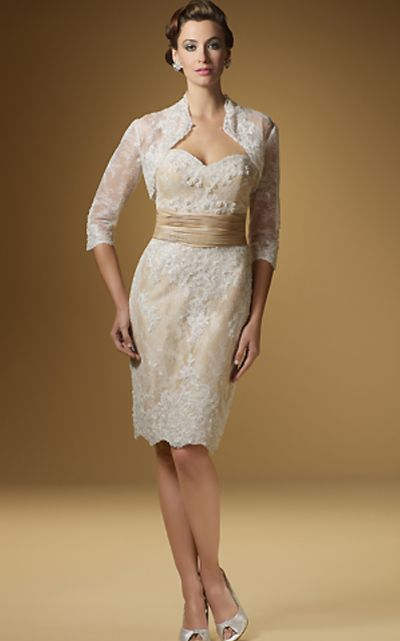 Rina di Montella 1441 Lace Mother of the Bride Short Jacket Dress ...