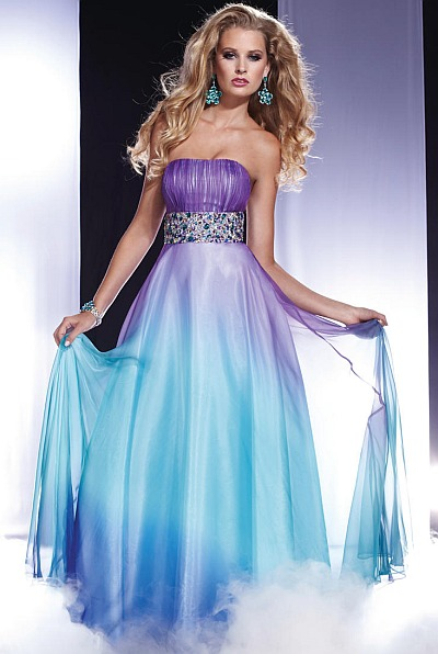 Prom Dresses 2012 Panoply Ombre Chiffon Dress 14435 French Novelty