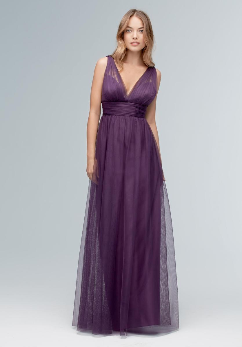 Wtoo 145 V Neck Shirred Bridesmaid Dress: French Novelty