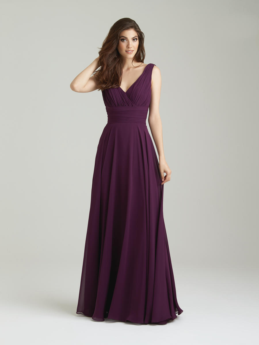 Allure 1455 cowl back chiffon bridesmaid gown french novelty ombrellifo Gallery