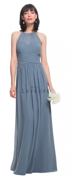 435e52b9c30 Bill Levkoff 1457 Flattering Pleated Bridesmaid Dress  French Novelty