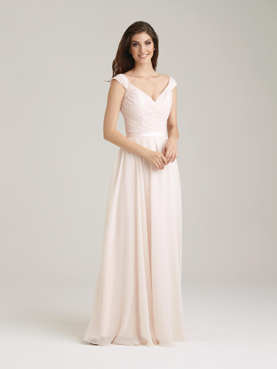 Allure 1463 lace chiffon long bridesmaid dress french novelty ombrellifo Image collections