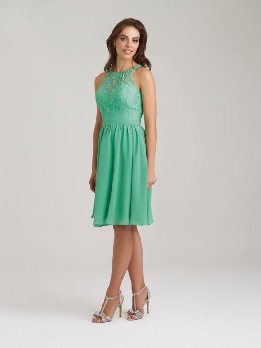 Size 12 Juniper Allure 1464 Lace Chiffon Short Bridesmaid Dress ...
