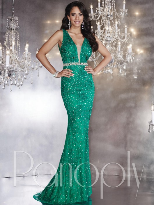 cac974c35bae Panoply 14746 Glittering AB Stone Gown: French Novelty