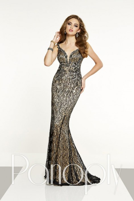 7d76804c772 Panoply 14879 Lace Prom Gown  French Novelty