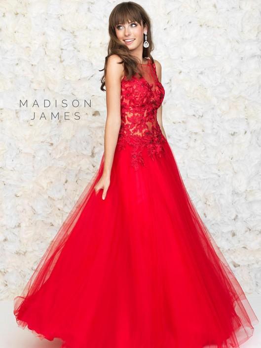 ff7f0f2cdcd Madison James 15-131 Romantic Formal Dress  French Novelty