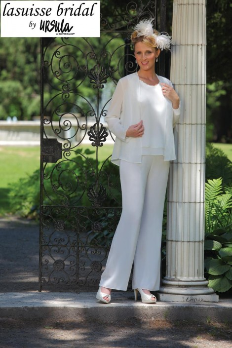 Lasuisse Bridal by Ursula 15007 Wedding Pant Suit: French Novelty