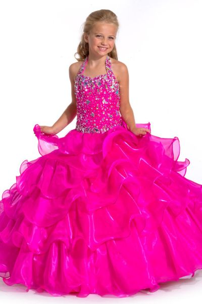Party Time Perfect Angels 1503 Liquid Organza Girls Ball Gown ...