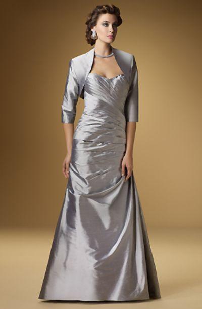 Rina Di Montella 1510 Silk Shantung Mother Of The Bride Dress