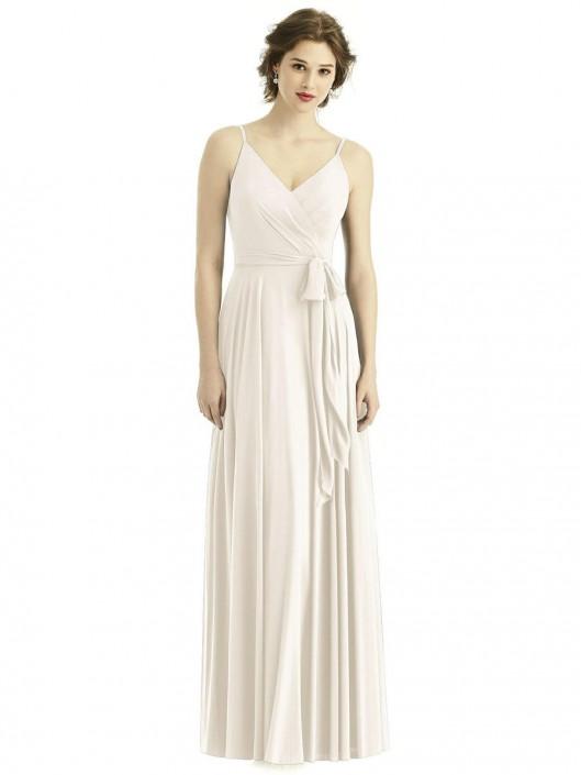 After Six 1511 Draped Chiffon Bridesmaid Dress: French Novelty