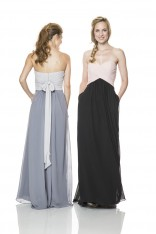 f633ec9f1550f Size 12 Blush-Black Bari Jay 1517 Two Tone Bridesmaid Gown