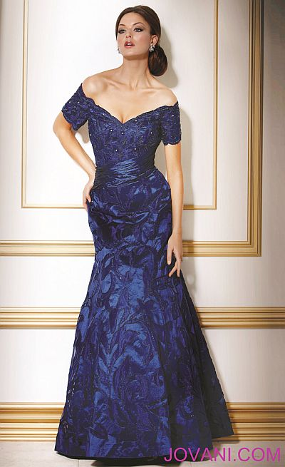 344749326398 Jovani Off the Shoulder Evening Dress 1545301: French Novelty