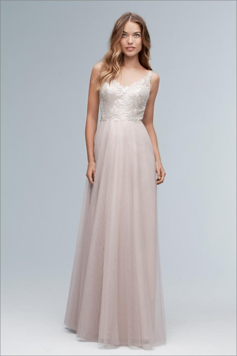 Wtoo 154i Romantic Sequin Lace Bridesmaid Dress: French Novelty