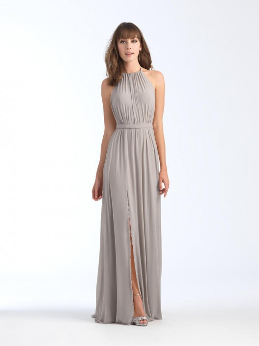 05e16325287 Allure 1559 Stretch Chiffon Halter Bridesmaid Dress  French Novelty